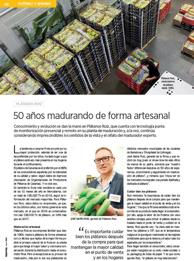 Plátanos Ruiz en la revista Mercados