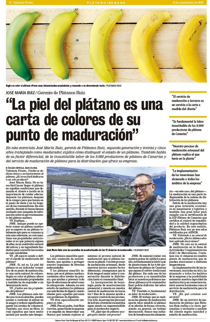 Plátanos Ruiz - experto madurador de plátanos